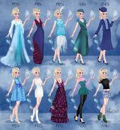 Elsa in 20th century fashion by BasakTinli
