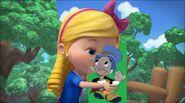 Goldie kisses Jiminy Cricket