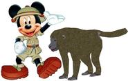 Mickey meets Olive Baboon
