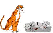Shere Khan and Spotty, Luk & Moonch
