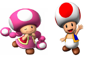 Toadette and Toad