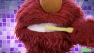 Elmo's teeth close-up