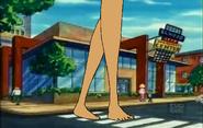 Giant Jane Walks Crosses the Street