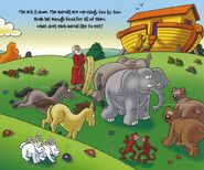 Noah's Ark Kangaroos Turtles Tortoises Bears Horses Rabbits Hares Jackrabbits Monkeys Elephants Seagulls Beavers Mice Rats and Chimpanzees