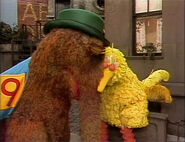 Big Bird and Snuffy take a nap togther in episode 1130