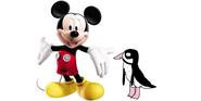 Mickey meets Humboldt Penguin