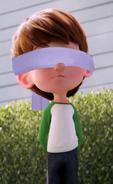 Nate Gardner blindfolded