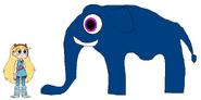 Star meets Sumatran Elephant