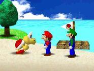 Mario Party 64 mario luigi and red koopa troopa