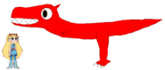 Star meets Carnotaurus