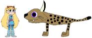Star meets Eurasian Lynx