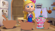 Goldie has a birthday cake