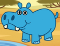 Hippopotamus in turn and learn