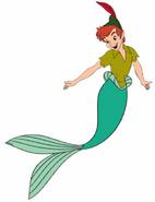 Peter Pan as a Merman