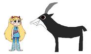 Star meets Black Sable Antelope