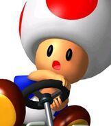 Toad in Mario Kart Super Circuit