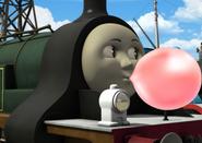 Emily blowing bubble gum 2