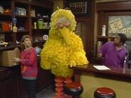 Episode 2424- Big Bird is sad that Granny Bird can't come to him