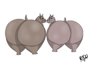 Giant hippo butts by boman100 dbuq5d5-fullview