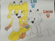 Lori Loud and Lincoln Loud as Foxes