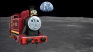Rosie on the moon