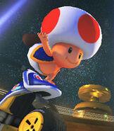 Toad in Mario Kart 8