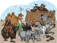 Noah's Ark Elephants Bats Lions Hippos Ostrichs Alligators Crocodiles Gorillas Monkeys Camels Sheeps Pigs Horses Cattles Goats Mules Chickens Armadillos Anteaters Aardvarks Chameleons Rattlesnakes Leopards Mooses Hyenas Hedgehogs