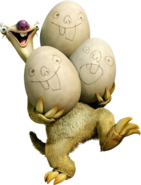 Sid with eggs render