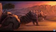White Rhino in Animal Kingdom Let's Go Ape