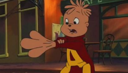 Alvin Turns into a Cartoon Monster