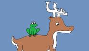 Deer and Frog
