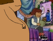 Hippo Francine and Catherine's room with Catherine's lacy theme, Catherine reacts shortly af