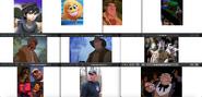 Dark Pit, Smiler, Clayton, Boba Fett (Lego), Amos Slade, McLeach, Victor Quartermaine, Shaw, Dwayne, Killian, Dick Dastardly, Psycho Dad and The Penguin