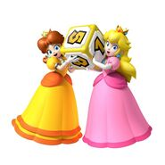 Princess Daisy and Princess Peach in Mario Party 9
