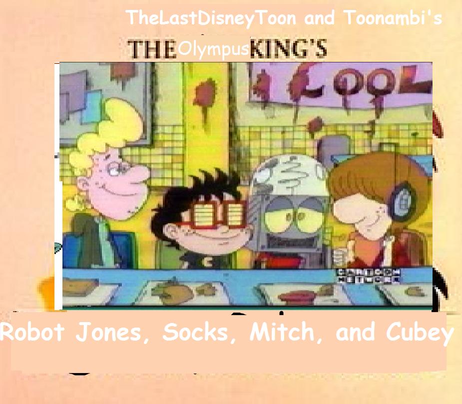 Robot Jones, Socks, Mitch, and Cubey (TheLastDisneyToon and Toonmbia's Style) (Version 3)