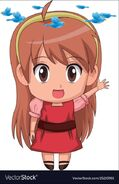 Anime girl dizzy birdies