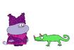 Chowder meets Horned Chameleon