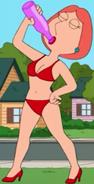Lois red bikini