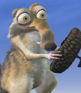 Scrat in the Ice Age Shorts