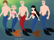 Team America as Mermaids