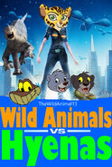 Wild Animals V.S. Hyenas Poster