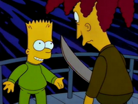 Bart and Sideshow Bob