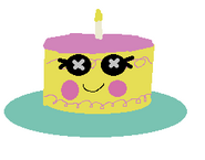Candle Slice O' Cake as an Inanimate Object