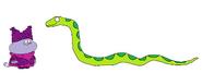 Chowder meets Green Tree Python