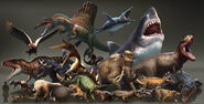 Dinosaurs vs. Beasts by Arvalis