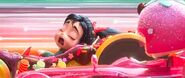 Vanellope doses off during the race while driving