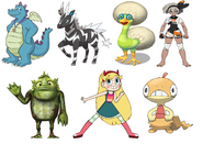 Ord, Stan of the Swamp, Bea, Dandidoo, Star Butterfly, Zebstrika and Scraggy