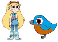 Star meets Eastern Bluebird