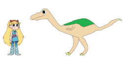 Star meets Ornithomimus.png