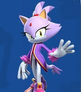 Blaze the Cat in Mario and Sonic at the Rio 2016 Olympic Winter Games